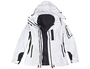 Reilly Olmes Women's 3 in 1 Tech Jacket White-Black Large, New
