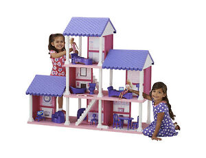 American Plastic Toys Fashion Doll Dollhouse, New