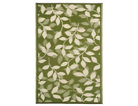 Bali Forest Green & Cream 6x9 Inddor/Outdoor Rug, New