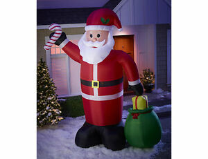 12' Lighted Inflatable Santa, New