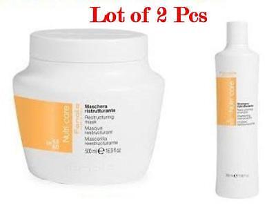 LOT OF 2-Fanola Nutri Care Restructing MASK+SHAMPOO for dry