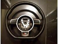 Audi s3 flat bottom steering wheel dotted leather