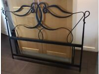 Kingsize metal frame headboard