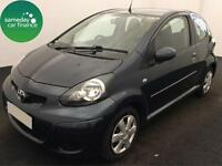 £101.02 PER MONTH GREEN 2012 TOYOTA AYGO 1.0VVT-i ICE 3 DOOR PETROL MANUAL