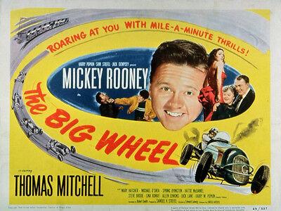 THE BIG WHEEL Movie POSTER 11x14 Mickey Rooney Thomas Mitchell Mary Hatcher