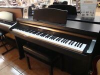Roland HP-102e Digital Piano Full Size 88 weighte keys, 3 pedals, Rosewood colour