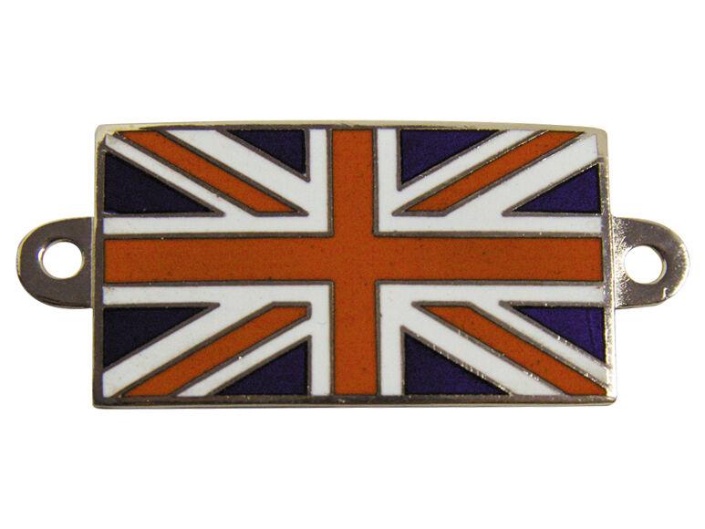 Union Jack Flag Enamel Bolt On Car Badge