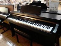 Roland HP-102e Digital Piano Full Size 88 weighte keys, 3 pedals, stool, FREE DELIVERY
