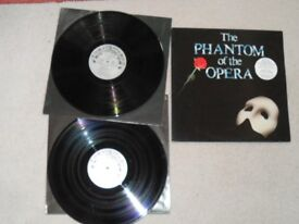 THE PHANTOM OF THE OPERA DOUBLE LP FROM 1987 IN VG CONDITION