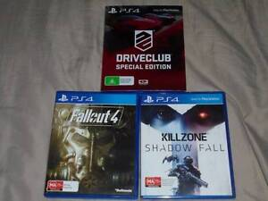 PS4 Killzone: Shadow Fall Brand New, Fallout 4 & Driveclub SE Eastlakes Botany Bay Area Preview