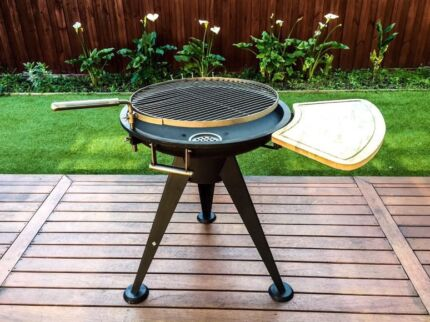 Iron Solid Freestanding Sliding BBQ Grill,Christmas Sale
