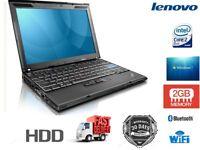 Lenovo Laptop Thinkpad X200 Core 2 Duo 2GB Ram 160GB HDD Lightweight Windows 7 Professional