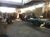 Bench area available for cabinet maker /joiner in shared workshop