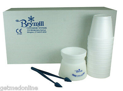 New Brymill Cryo Tweezers With Delrin Cup Holder And 10 X Foam Cups Bry-350
