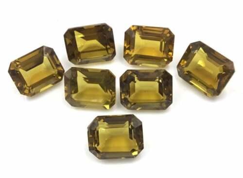 Natural Honey Quartz Faceted Fancy Cushion Loose Gemstone