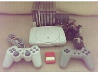 Ps1 slim with 8 games + 2 controls & memory card