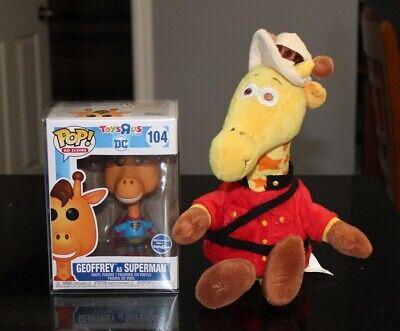 Funko Pop Toys r Us Geoffrey as Superman 104 & Around The World Mountie Mascot