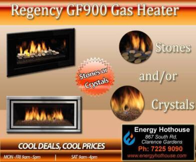 Regency GF900 Stones & Crystals Gas Heater - STUNNING Clarence Gardens Mitcham Area Preview