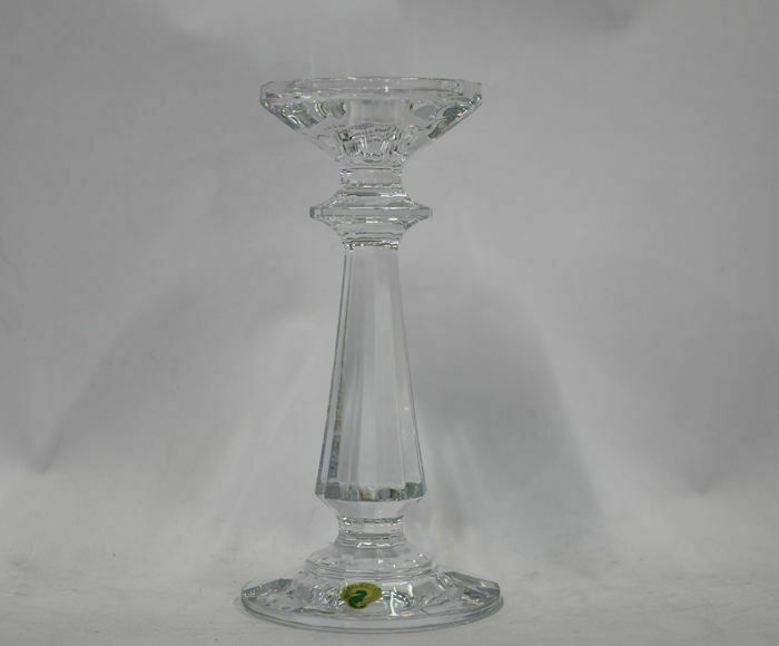 """Waterford Crystal Illuminology 8"""" Faceted Footed Candlestick"""