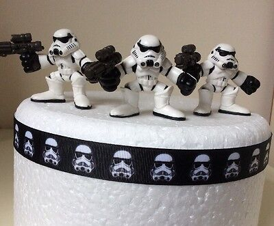 STAR WARS CAKE TOPPERS X3 SIZE 8CM