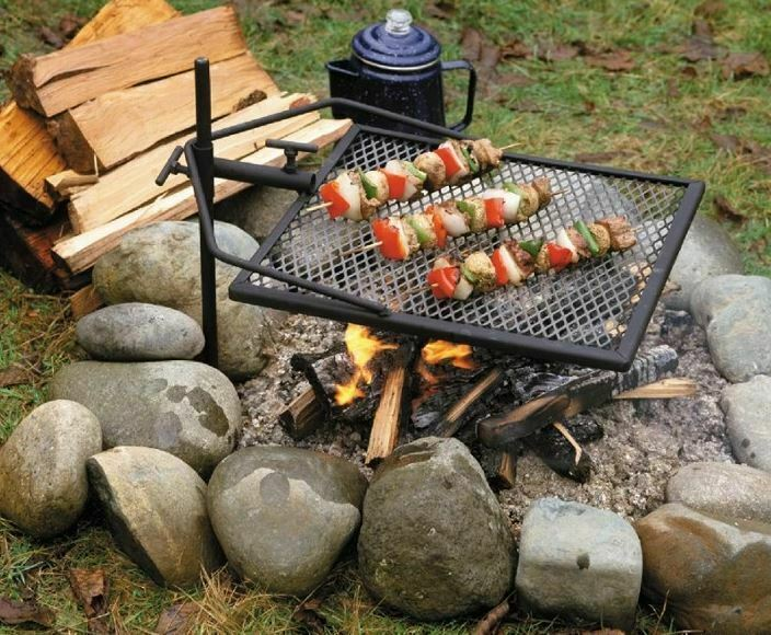 Adjust-A-Grill 13570 Portable Campfire Grill