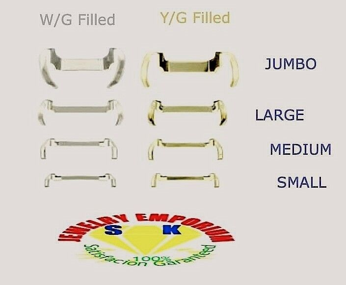 2x 14kt Ring Guard Adjuster Ring Spacer Ring Sizer Metal Ring Guard Enhancer NEW
