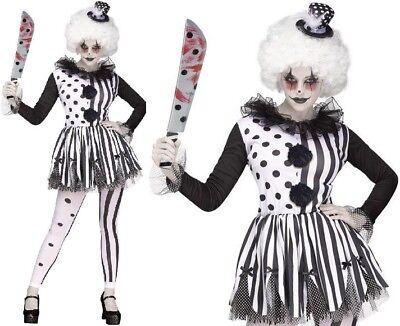 Dames de Halloween Clown Tueur Femmes Déguisement Costume pour Femmes Tenue Neuf