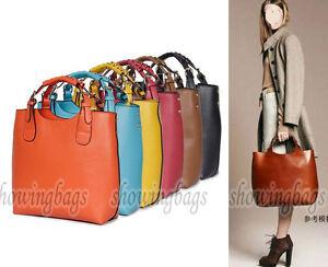 A8158-Leather-women-lady-handbag-purse-Bag-tote-shoulder-bag-Vintage-Bag