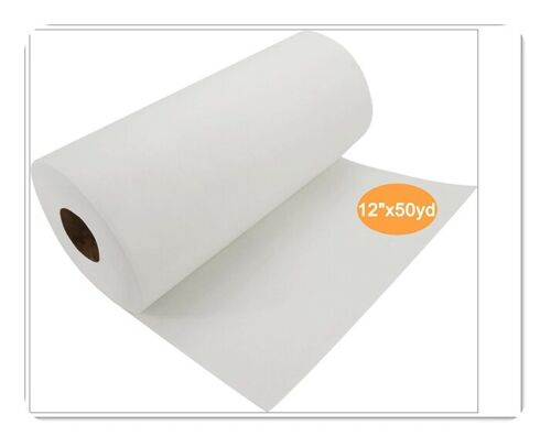 "Cut Away Machine Embroidery Stabilizer Backing 12"" x 50 Yd roll - Medium Weight"