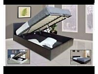 🔥🔥UK BEST SELLING BRAND🔥🔥BRAND NEW DOUBLE OTTOMAN STORAGE GAS LIFT UP BED FRAME BLACK BROWN