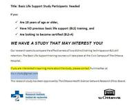 BASIC LIFE SUPPORT STUDY - PARTICIPANTS NEEDED!