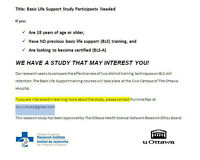 BASIC LIFE SUPPORT STUDY - PARTICIPANTS NEEDED!!