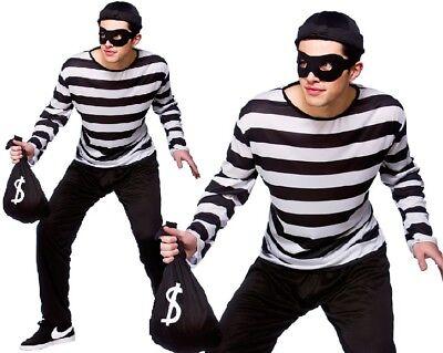 Herren Räuber Maskenkostüm Herren Einbrecher Outfit Neu - Herren Einbrecher Kostüme