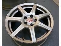 "2 x Honda Civic Type R FN2 (2006/2010) 18"" alloy wheel 5x114.3"