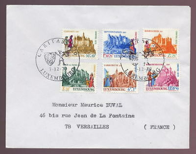LUXEMBOURG 1970 CASTLES +SURCHARGES FIRST DAY COVER