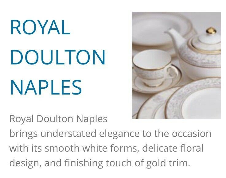 Royal doulton dinner service naples