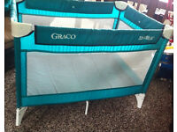 "Graco green travel cot/play pen good clean condition ""Travelite"""