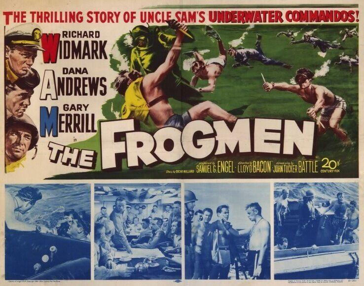 THE FROGMEN Movie POSTER 22x28 Half Sheet Richard Widmark Dana Andrews Gary