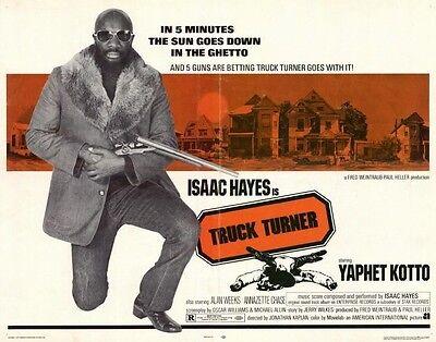 TRUCK TURNER Movie POSTER 22x28 Half Sheet Isaac Hayes Yaphet Kotto Annazette