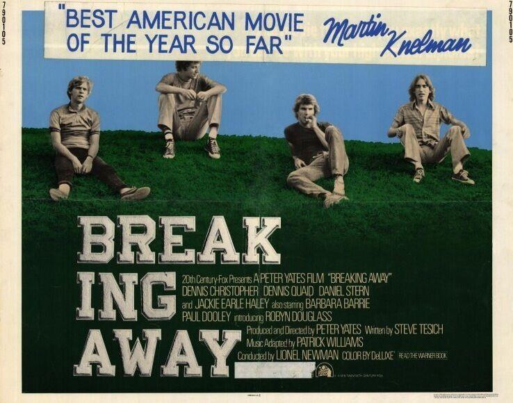 BREAKING AWAY Movie POSTER 22x28 Half Sheet Dennis Christopher Dennis Quaid