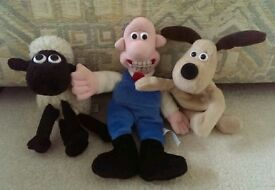 Wallace, Gromit & Shaun beanie set