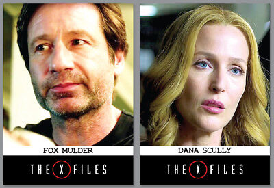 2015 NYCC Exclusive - THE X-FILES - Season 10 - 2 Card Promo Set - Mulder Scully for sale  Shipping to Canada
