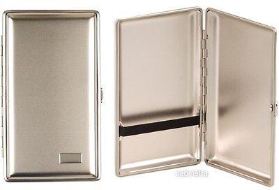 Zigarrenetui Metall nickelfarben satiniert für 4 Zigarren 16cm Made in Germany