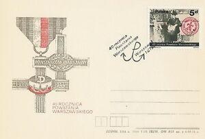 Poland postmark WARSZAWA - WW II Warsaw Uprising (analogous) - Bystra Slaska, Polska - Poland postmark WARSZAWA - WW II Warsaw Uprising (analogous) - Bystra Slaska, Polska