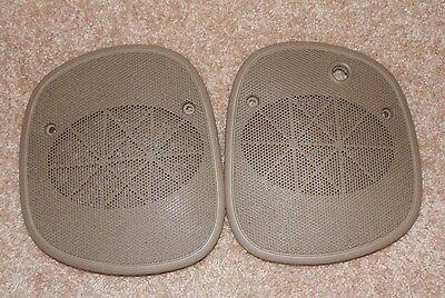 Tan 98+ S10 Blazer Sonoma Jimmy Bravada Dash Speaker Cover Grills Pair