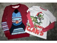 Young Boys Christmas Jumpers x 2. Age 6-7