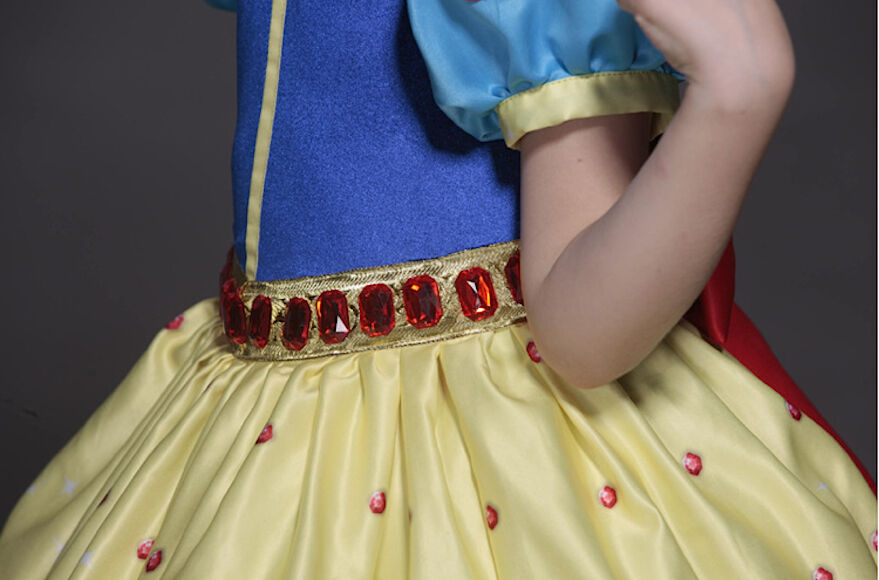 Biancaneve Vestito Carnevale Dress up Princess Snow White Deluxe Costume SNOW002