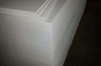 Corrugated Plastic White 18x12 Flute 4mm Sign Sheets Blanks Inteplast Coroplast