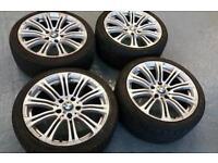 A set of four BMW style 18x8.5J alloy wheels + four excellent tyres 5X120