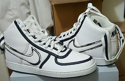 NIKE AF1 VINTAGE WHITE LEATHER HI TOPS - RARE ON EBAY - MEN'S NEW SIZE 11.5